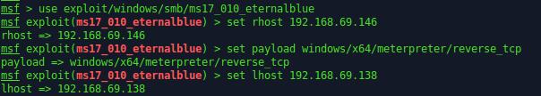 Exploit için gerekli işlemler.