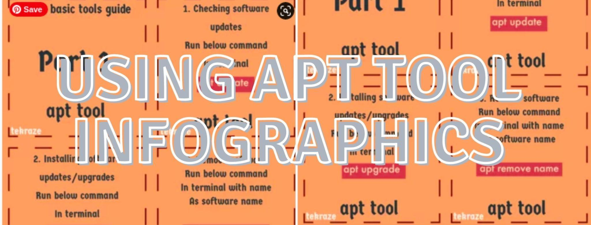 Using apt tool infographics Linux basic tool series part 1 Banner
