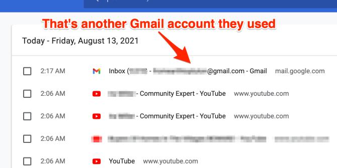 Finding hidden gmail accounts