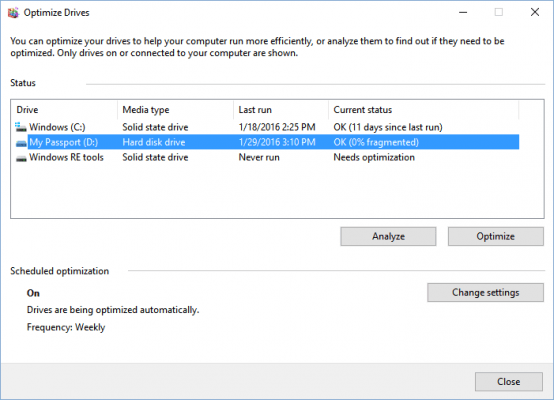How and When to Defragment Your Hard Drive in Windows 10
