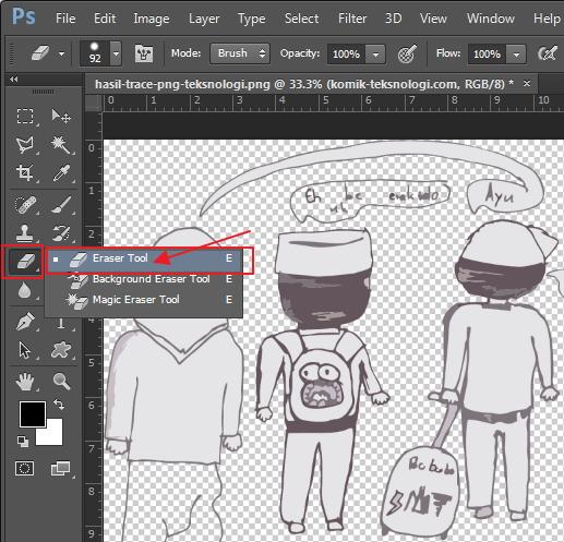 eraser-tool-photoshop-komik-teksnologi