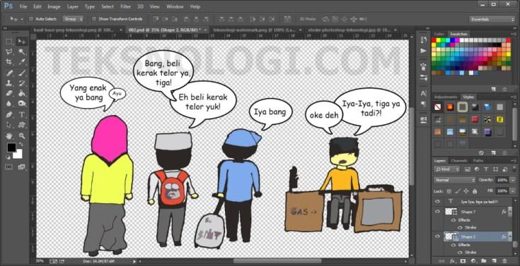 percakapan-komik-photoshop-teksnologi