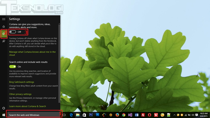 view-cortana-status-windows10