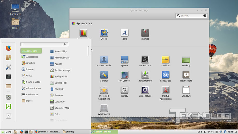 linux-mint-interface