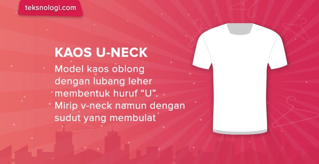 model-kaos-u-neck-shirt