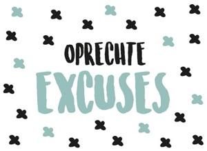 Oprechte excuses kaartje