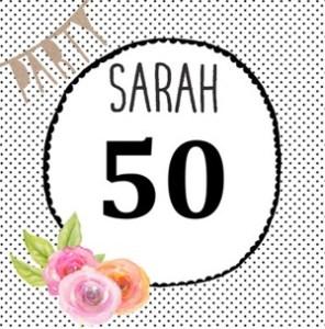 Teksten Sarah 50 jaar