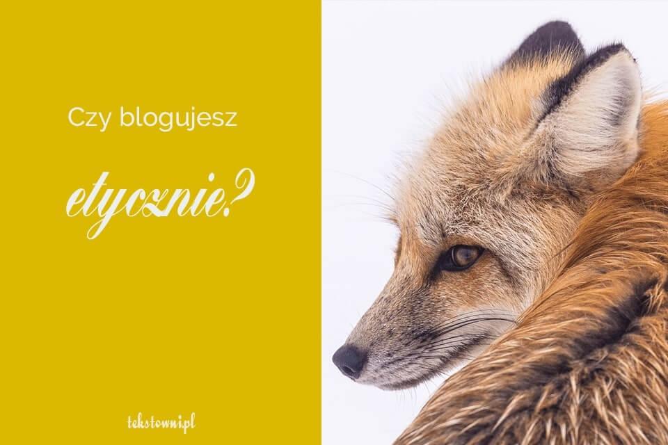 etyka blogowania