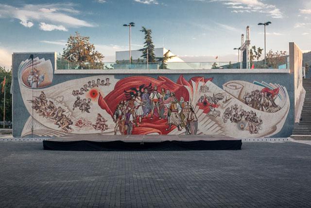 Skanderbeg-pladsen, mosaik, Skopje, Republikken Makedonien