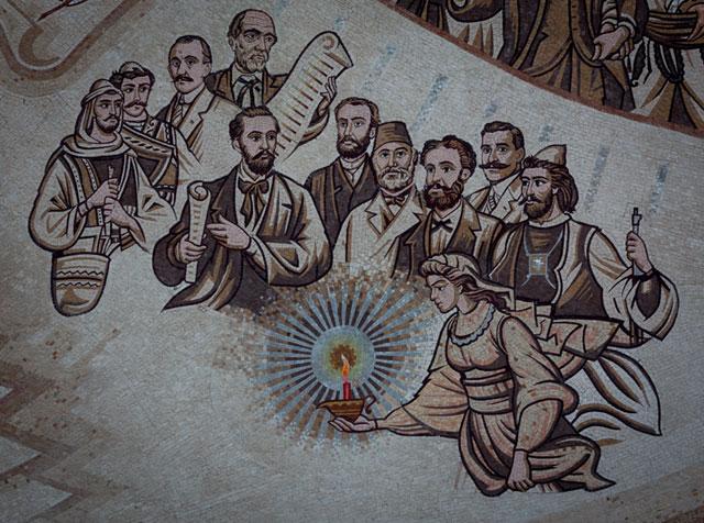 Skanderbeg-pladsen, albanske forfattere, Skopje, Republikken Makedonien