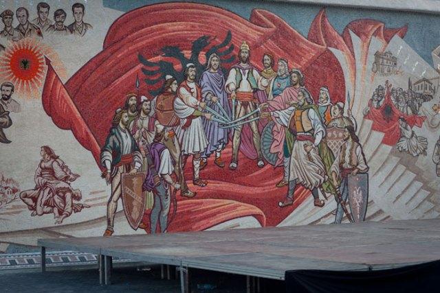 Skanderbeg-pladsen, Lëzhe-ligaen, Skopje, Republikken Makedonien