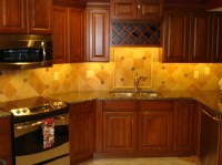 Porcelain backsplash