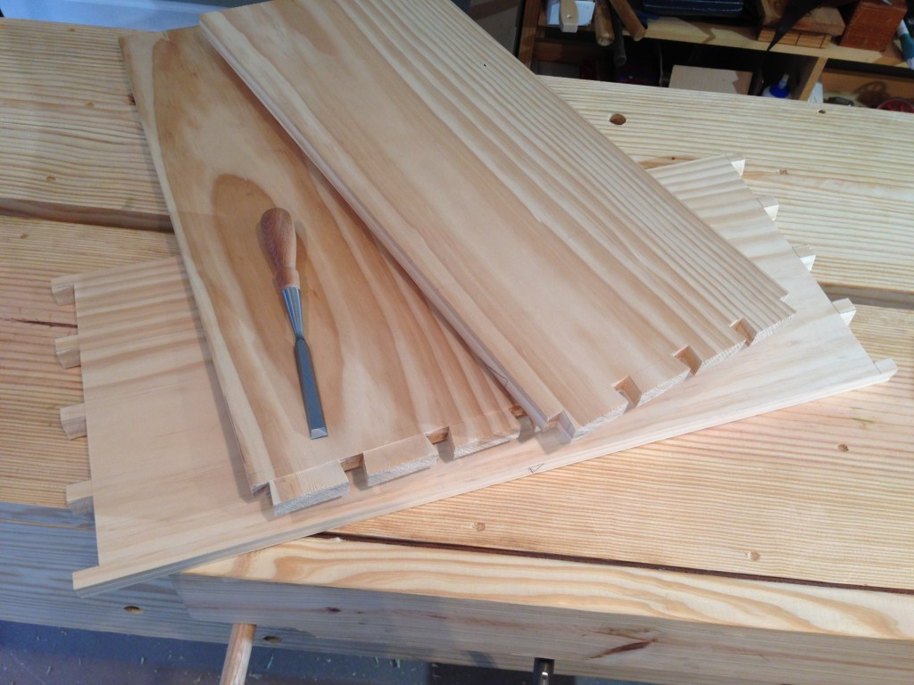 The dovetailed sides and bottom