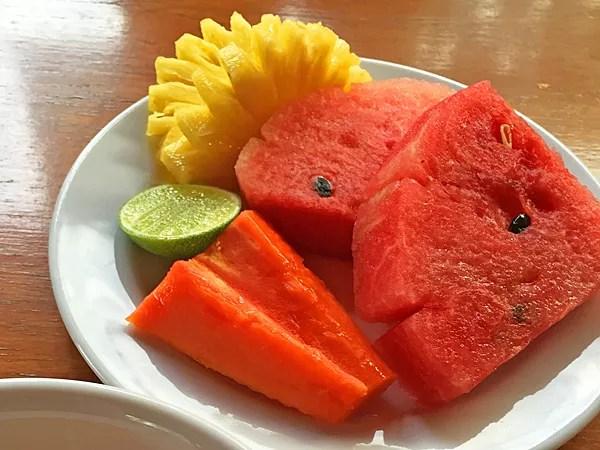 ※フルーツの美味しさが朝の気分を快適にしてくれる。