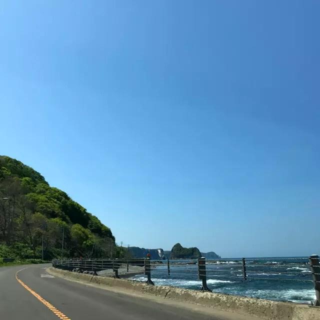 美国港手前の厚苫(あつとま)付近