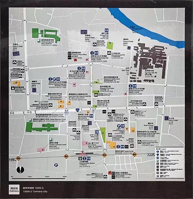 上州富岡駅前の案内図