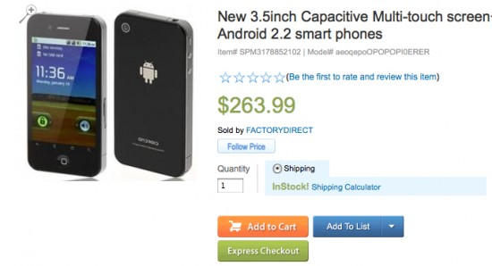 Sears selling iPhone 4 powered by Android!