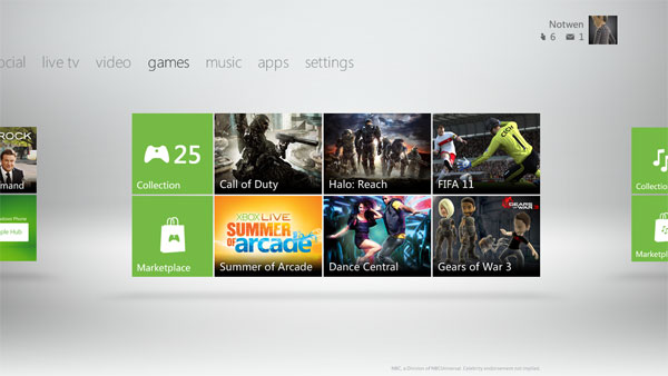 New Xbox 360 Dashboard Caught on Video!