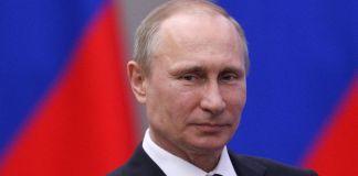 Foto del rostro de Vladimir Putin