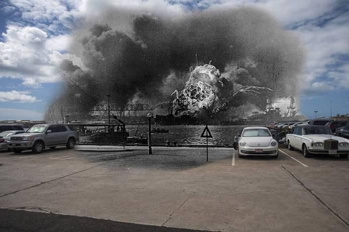 USS Shaw explosión