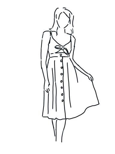 vestido de verano con abertura y lazo
