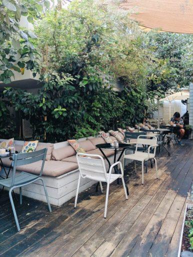 garden cafe in tel aviv