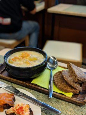 Old market Hall salmon soup