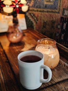 Cafe Regatta hot blackcurrant juice