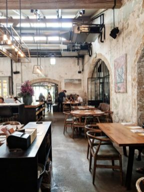 beautiful building restaurant in tel aviv