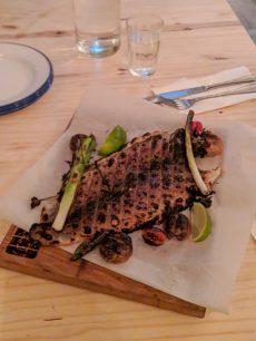 abie best restaurant in tel aviv grilled trout