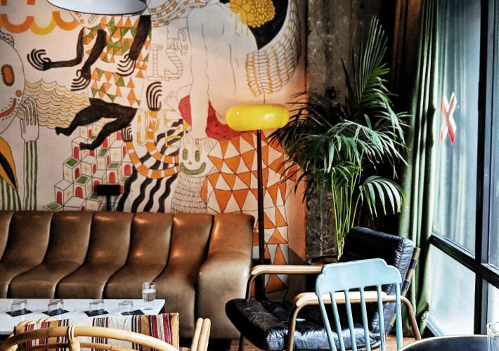 Bushwick brunch at fabric hotel Tel Aviv