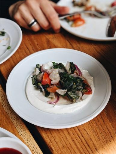 Wild Fish Ceviche with Fresh za'atar, sour cream