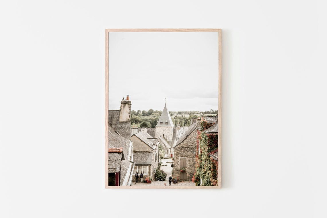 Rochefort en Terre in France wall print