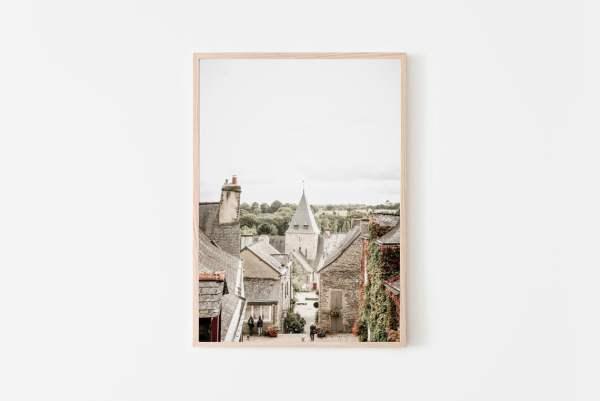 Rochefort en Terre in France wall print