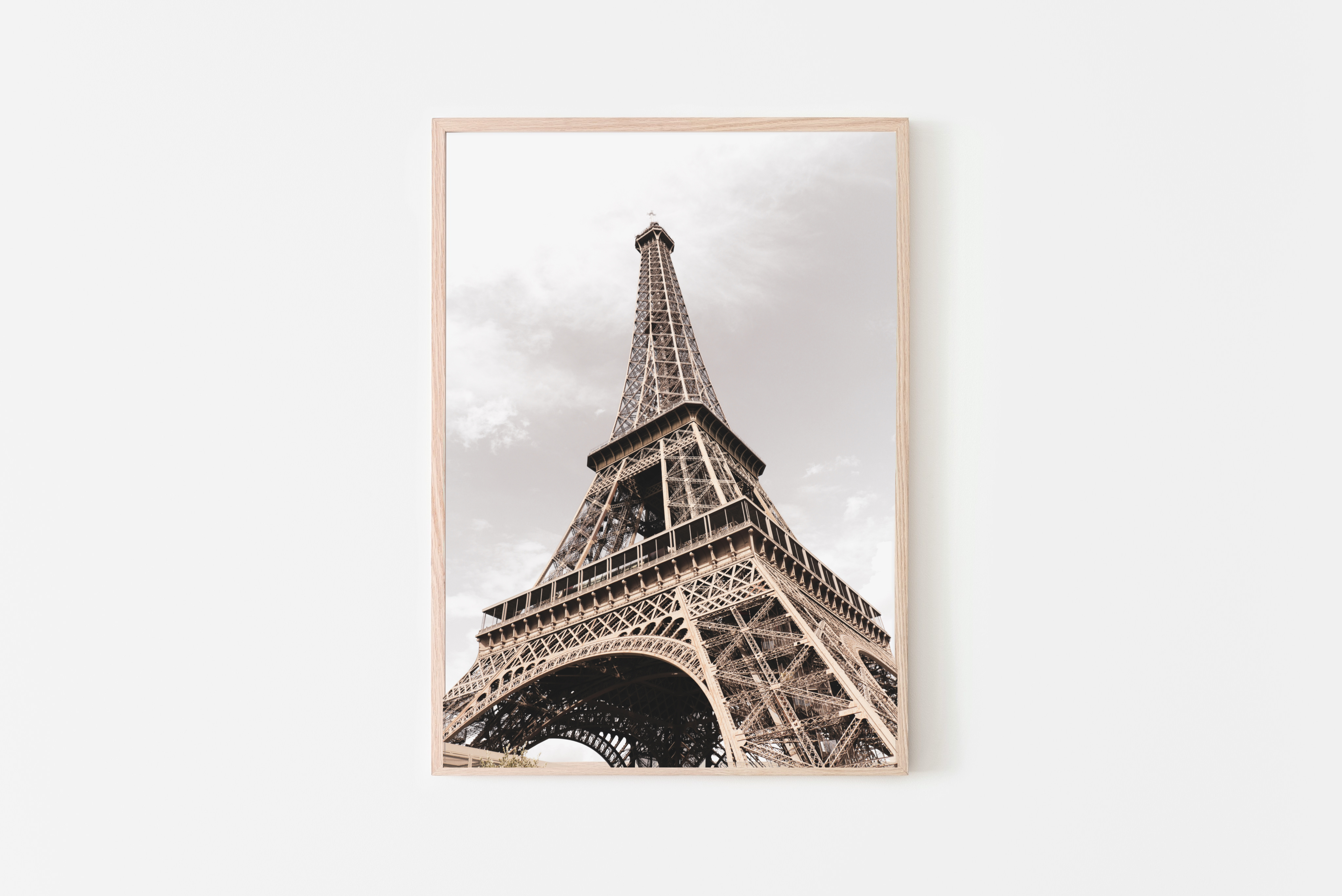 eiffel tower brown wall print