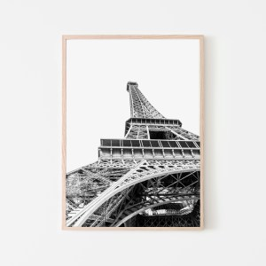 eiffel tower black white wall print