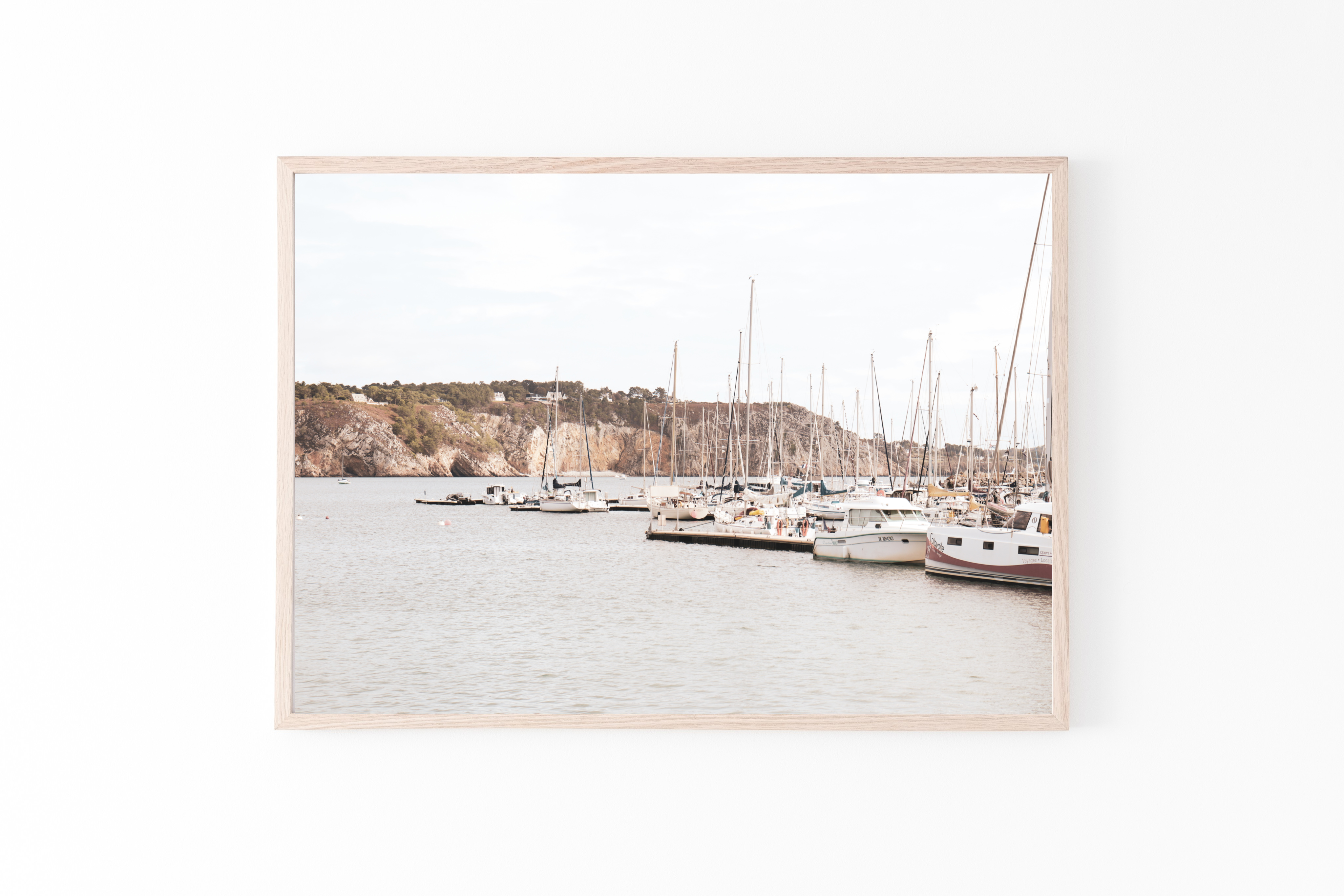 france brittany sail boats wall print