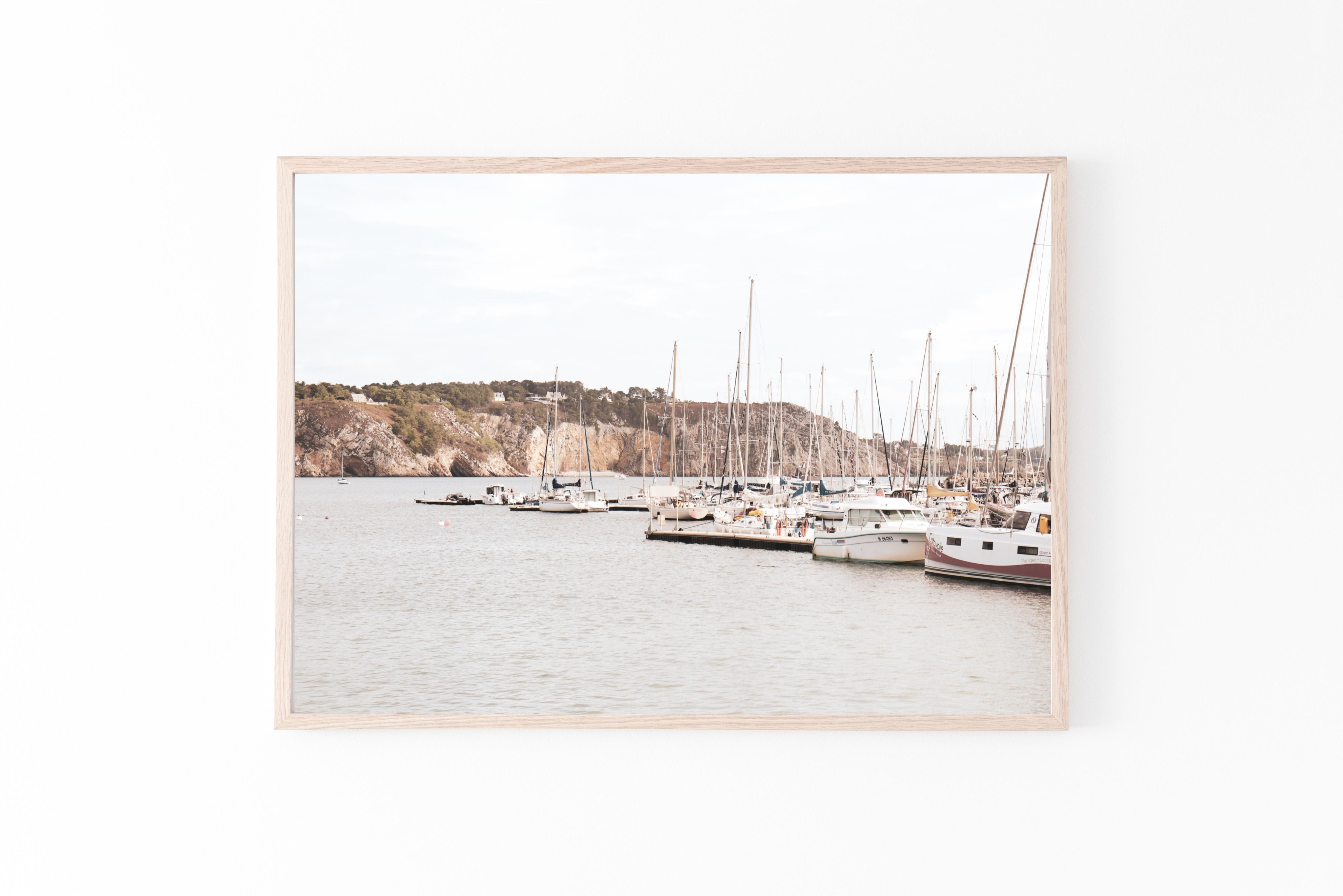 france brittany sail boats wall print