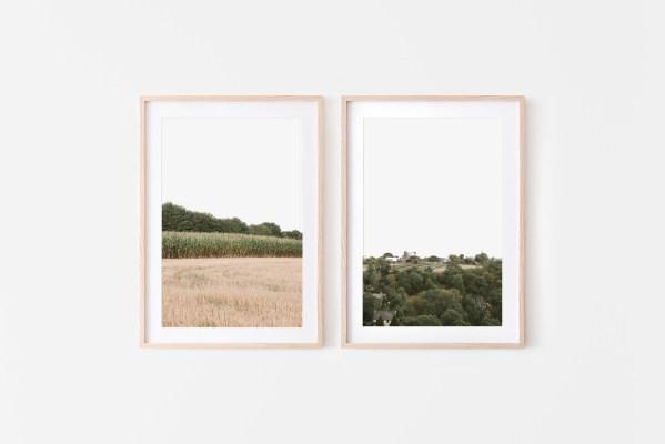 set of 2 wall prints france nature