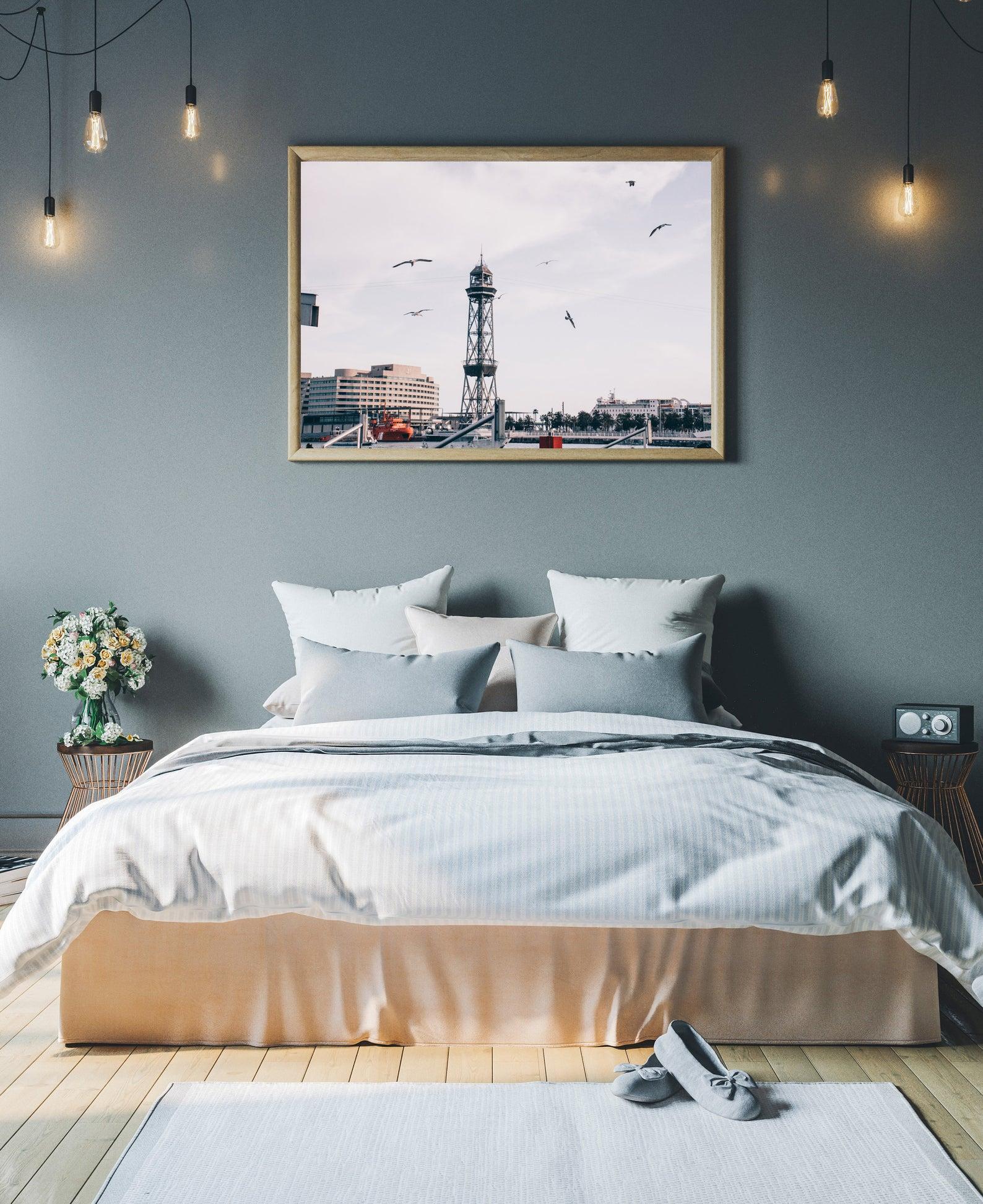 Barcelona port wall print photography