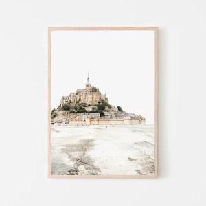 mont saint michel wall print