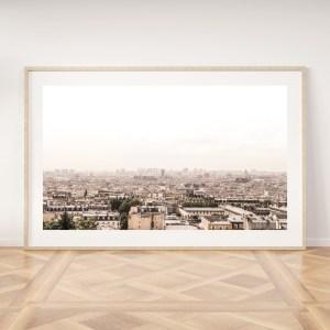 paris skyline landscape wall print