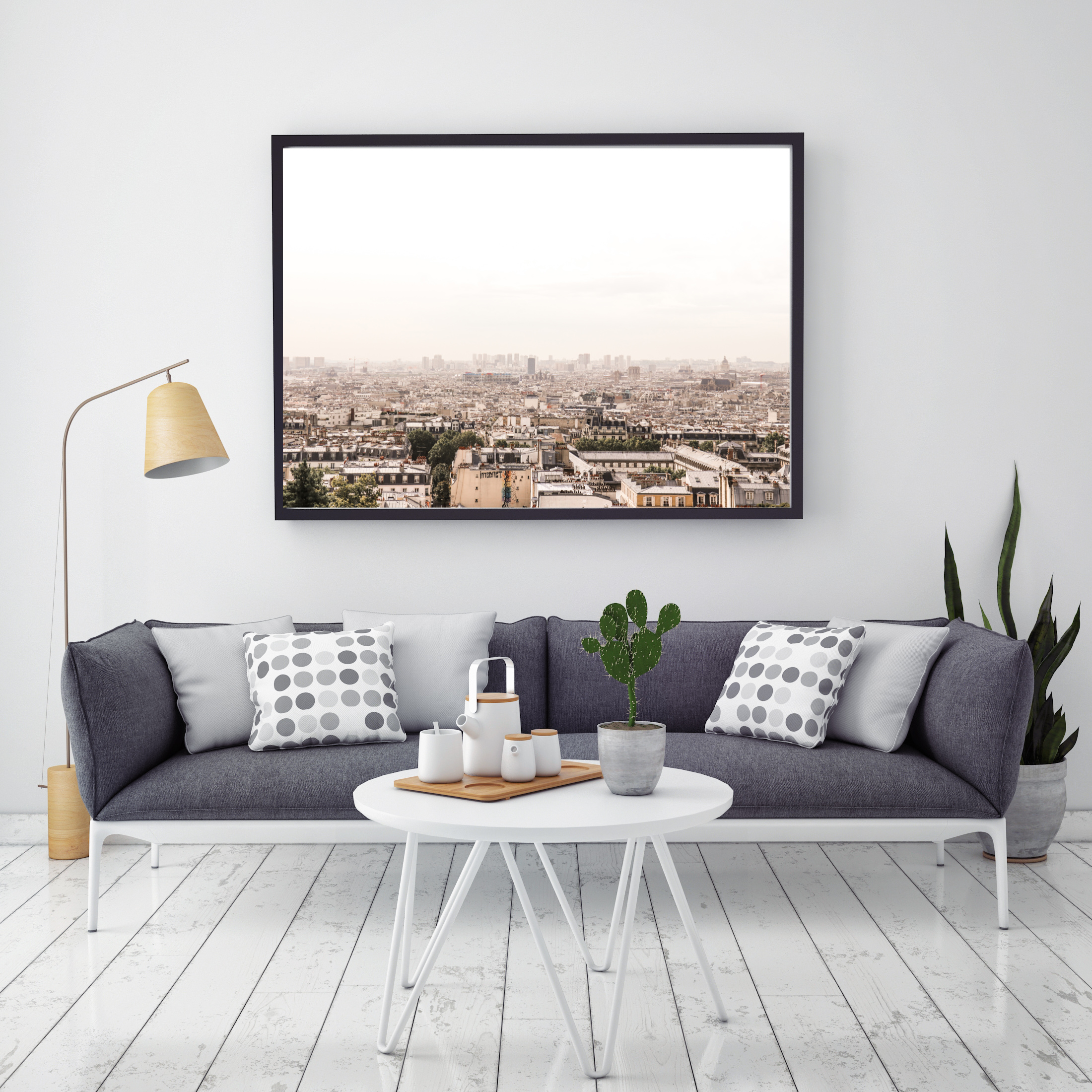paris skyline landscape wall print