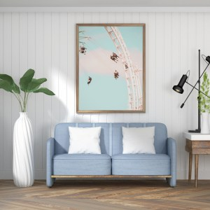 Swing ride carousel wall print