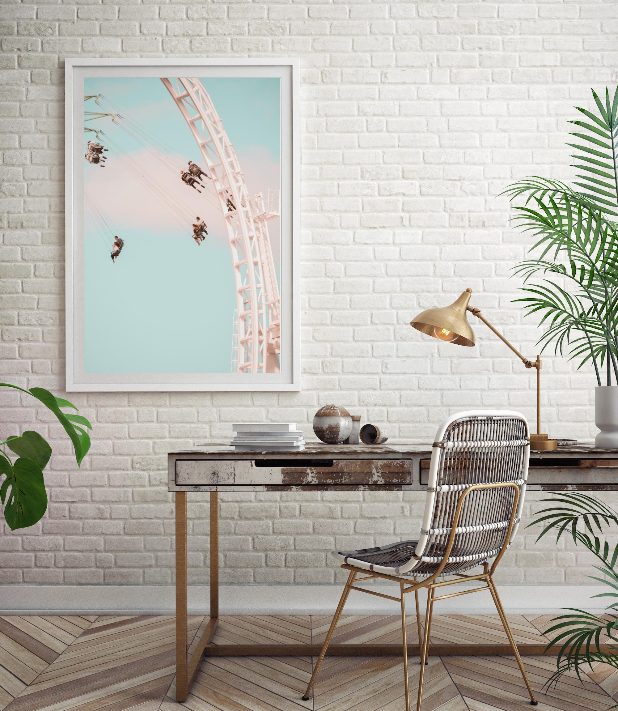Swing ride carousel wall print