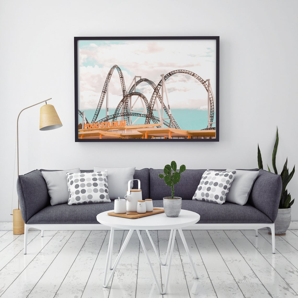 roller coaster wall print
