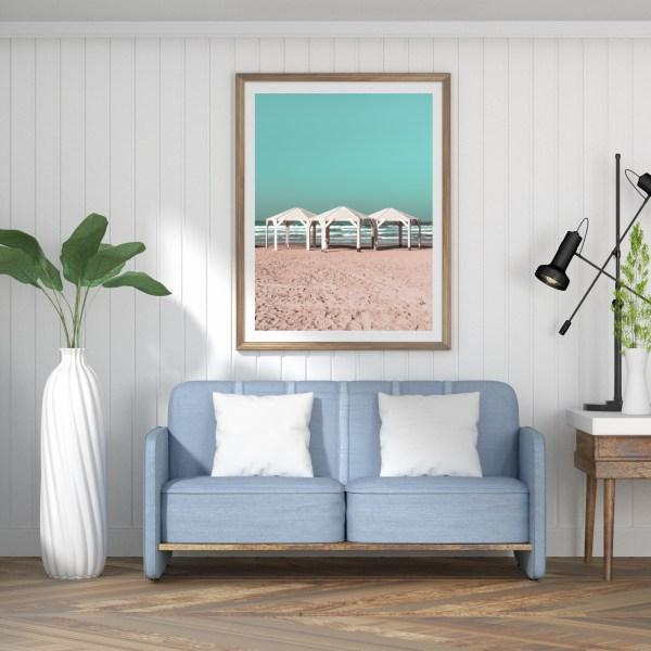 tel aviv beach wall print