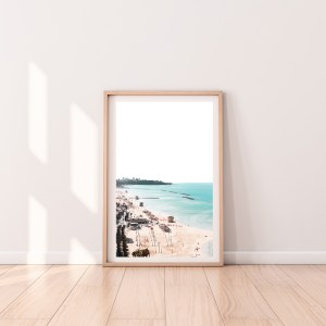 tel aviv beach high contrast wall print