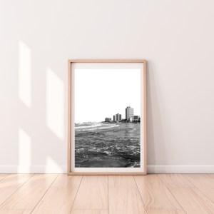 tel aviv skyline beach print