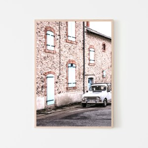 vintage car in Spain wall print